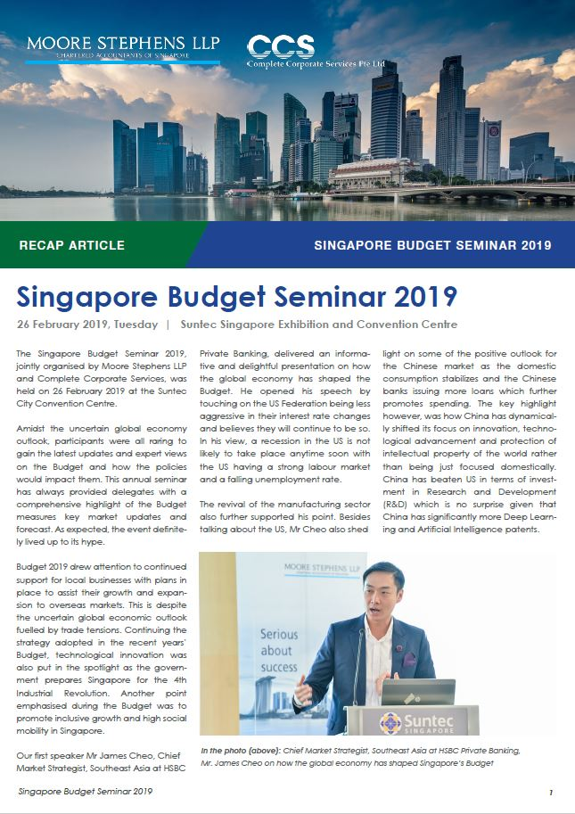 Event_Recap Article - Singapore Budget Seminar 2019